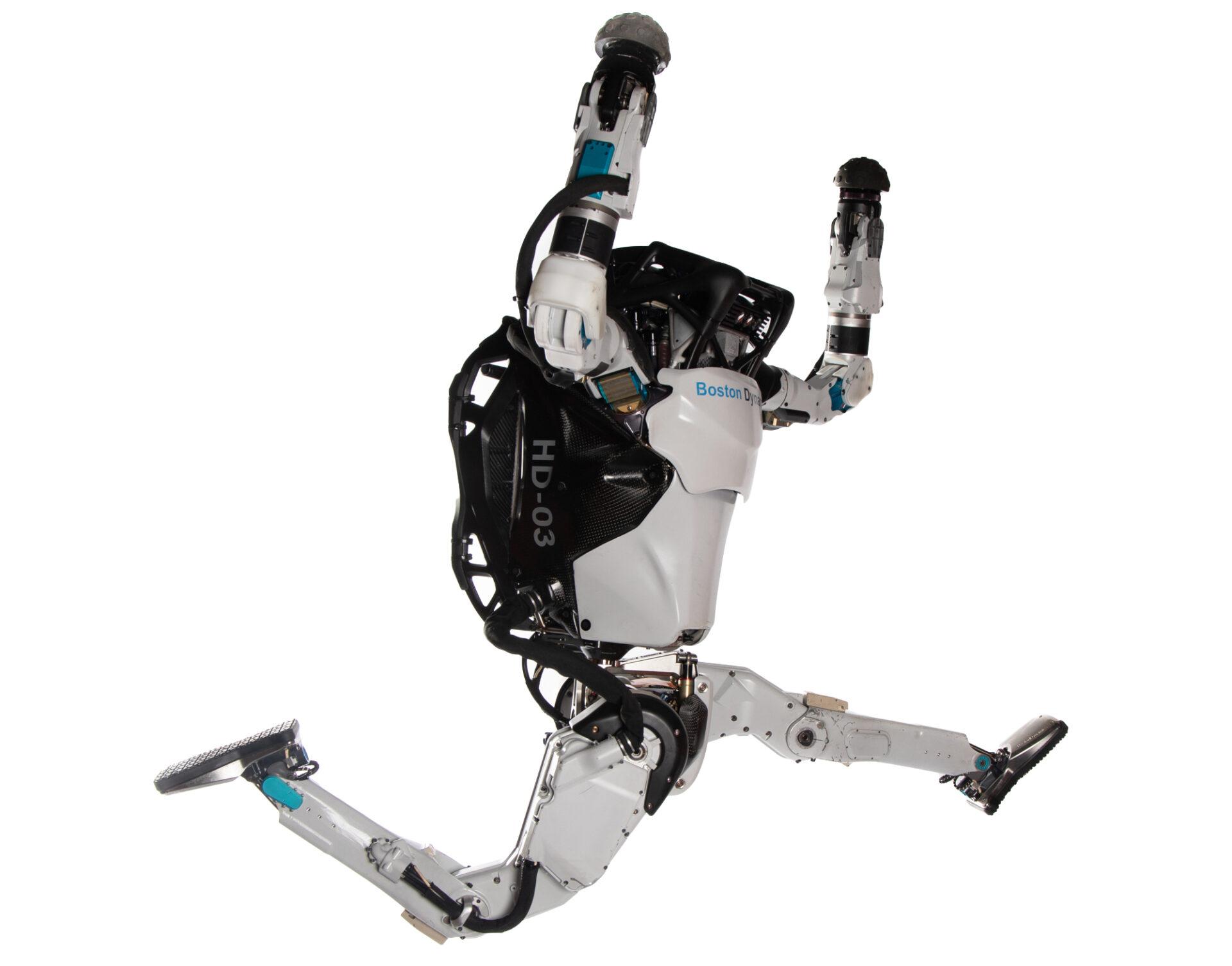 Boston Dynamics Atlas Robot Doing Parkour